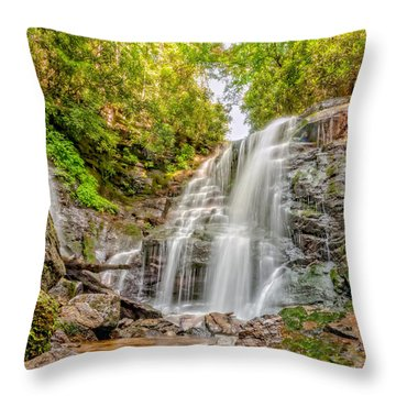 Throw Pillow featuring the photograph Rocky Falls by Christopher Holmes