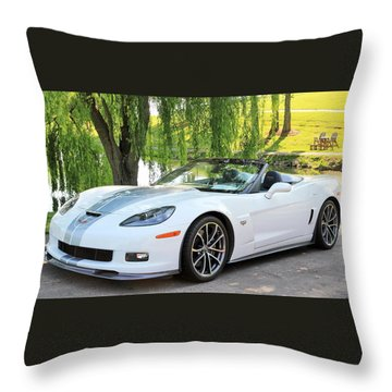 2013 60th Anniversary Special Corvette 427 Throw Pillow