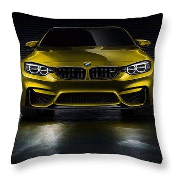Bmw M4 Throw Pillows Fine Art America