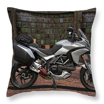 2013 Ducati 1200s Motorcycle Throw Pillow
