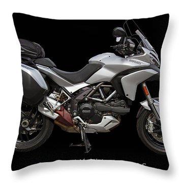 2013 Ducati Motorcycle Throw Pillow