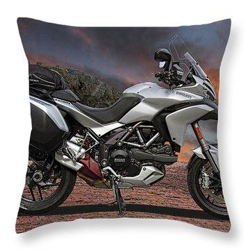 2013 Ducati Multistrada Motorcycle Throw Pillow