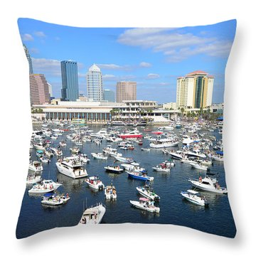 2013 Gasparilla Pirate Fest Throw Pillow by David Lee Thompson