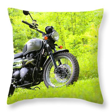2013 Triumph Scrambler Throw Pillow