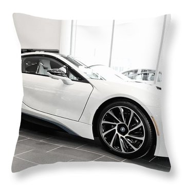 Throw Pillow featuring the photograph 2014 Bmw E Drive I8 by Aaron Berg