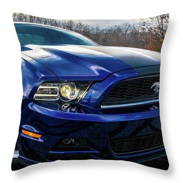 Throw Pillow featuring the photograph 2014 Ford Mustang by Randy Scherkenbach
