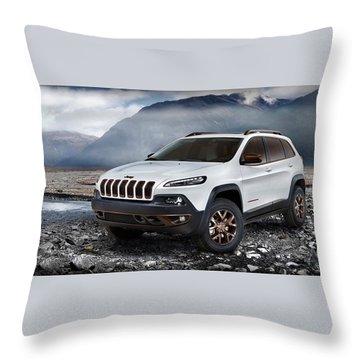 Jeep Cherokee Throw Pillows Fine Art America