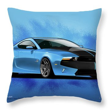 2014 Mustang  Throw Pillow