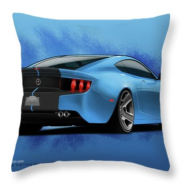 2014 Stang Rear Throw Pillow