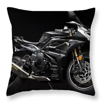 2014 Triumph Daytona 675 Disalvo Edition Throw Pillow