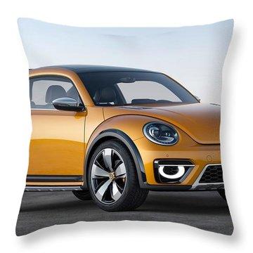 2014 Volkswagen Beetle Dune Concept Throw Pillow