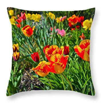 2015 Acewood Tulips 1 Throw Pillow by Janis Nussbaum Senungetuk