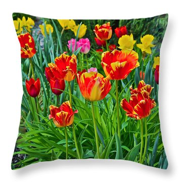 2015 Acewood Tulips 6 Throw Pillow by Janis Nussbaum Senungetuk