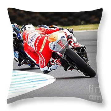 2015 Aussie Moto Grand Prix Throw Pillow by Blair Stuart