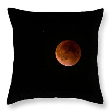 2015 Blood Harvest Supermoon Eclipse Throw Pillow