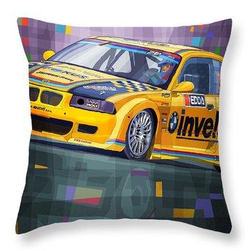2015 Edda Cup Jested Bmw M3 E36 Liska Throw Pillow by Yuriy Shevchuk