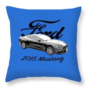 2015 Ford Mustang Throw Pillow