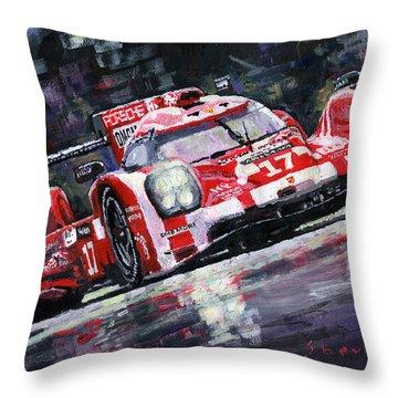 2015 Le Mans 24h Porsche 919 Hybrid Throw Pillow