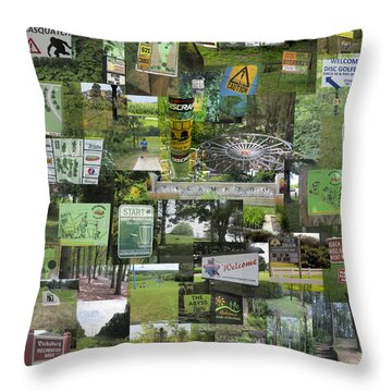 2015 Pdga Amateur Disc Golf World Championships Photo Collage Throw Pillow by Robert Glover