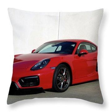 2015 Porsche Cayman Gts Throw Pillow
