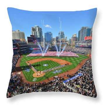 2015 San Diego Padres Home Opener Throw Pillow