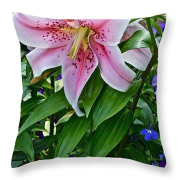 2015 Summer At The Garden Event Garden Lily 3 Throw Pillow