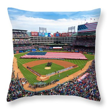 2015 Texas Rangers Home Opener Throw Pillow