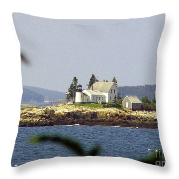 2015 Winter Harbor Light Throw Pillow