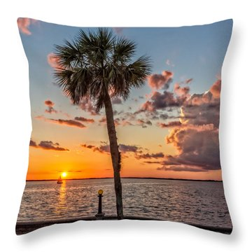 Throw Pillow featuring the photograph Sunset Over Lake Eustis by Christopher Holmes