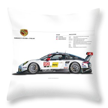 2016 911gt3r Rsr Poster Throw Pillow