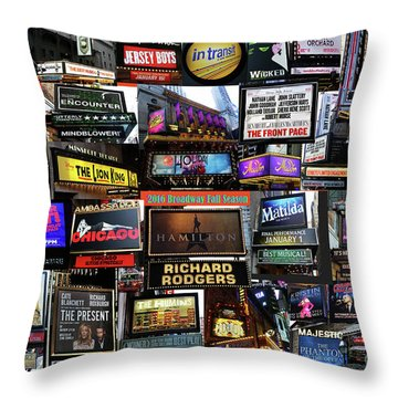 Throw Pillow featuring the photograph 2016 Broadway Fall Collage by Steven Spak