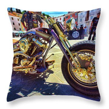2016 Custom Harley Winner Throw Pillow by Graham Hawcroft pixsellpix