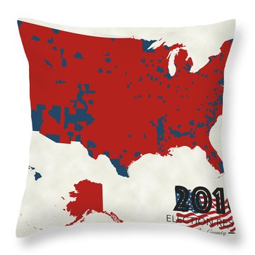 2016 Election Results Throw Pillow by Finlay McNevin