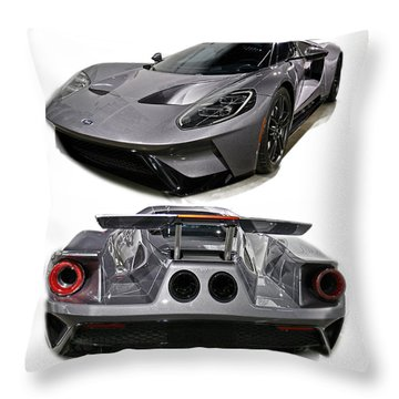 2016 Ford Gt Throw Pillow