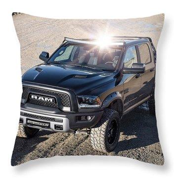 2016 Geigercars Dodge Ram 1500 Rebel Wide Throw Pillow