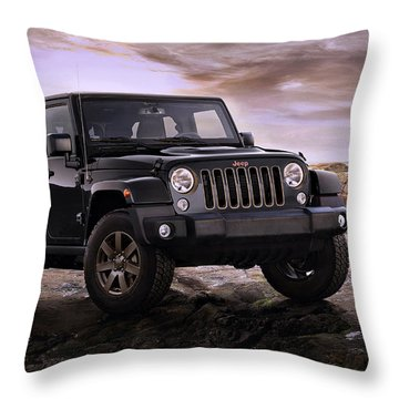 2016 Jeep Wrangler 75th Anniversary Model Throw Pillow