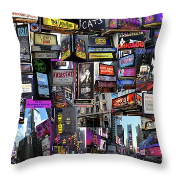 2017 Broadway Spring Collage Throw Pillow
