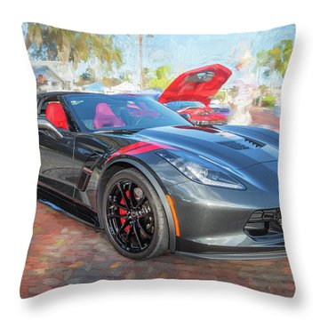 Throw Pillow featuring the photograph 2017 Chevrolet Corvette Gran Sport  by Rich Franco