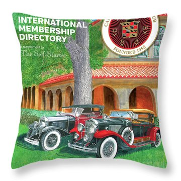 Throw Pillow featuring the painting 2017 International Cover Award by Jack Pumphrey