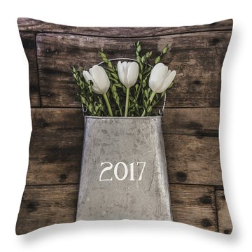 Throw Pillow featuring the photograph 2017 by Kim Hojnacki