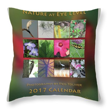 2017 Nature Calendar Throw Pillow