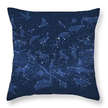 2017 Pi Day Star Chart Carree Projection Throw Pillow by Martin Krzywinski