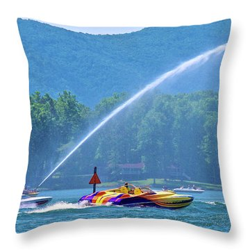 2017 Poker Run, Smith Mountain Lake, Virginia Throw Pillow