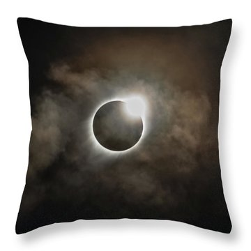 2017 Solar Eclipse Exit Ring Throw Pillow