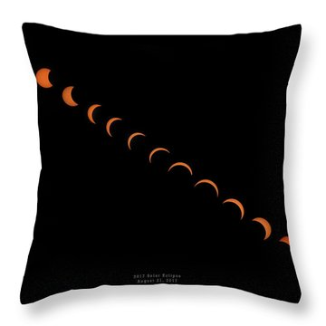 2017 Solar Eclipse Throw Pillow