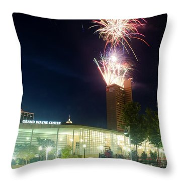 2017 Three Rivers Festival Aep Fireworks Throw Pillow