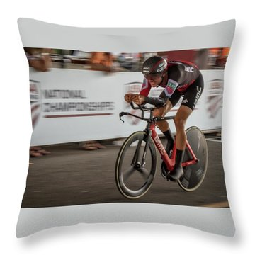 2017 Time Trial Champion Throw Pillow