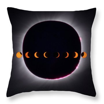 Throw Pillow featuring the photograph 2017 Total Eclipse And Moon Path by Mark Dodd