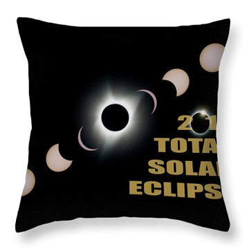 2017 Total Solar Eclipse Phases Throw Pillow