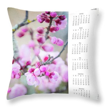 Throw Pillow featuring the photograph 2017 Wall Calendar Cherry Blossoms by Ivy Ho